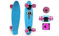 Скейтборд Penny Board LED WHEELS FISH SK-405-2. Суперцена!