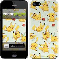 """Чехол на iPhone 5 Pikachu pokemon go """"3769c-18"""""""