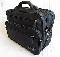 Мужская сумка через плечо Барсетка деловая А4 жатка 36х26х18см