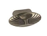 WPO503.000.0024 Ручка мебельная РГ 288 старый никель накладная кнопка - металлическая Италия GIUSTI