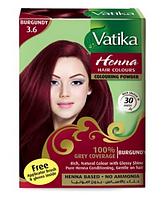 Краска для волос на основе хны Бордовая Dabur VATIKA, 6*10 г