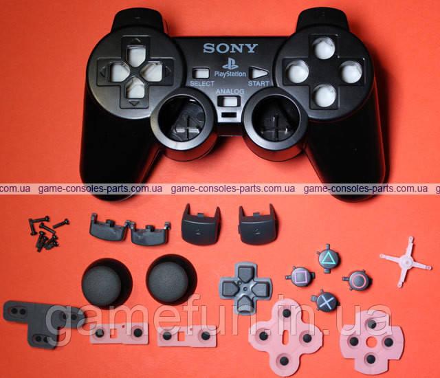 Корпус проводного джойстика PS2 + кнопки (Black) (Premium)