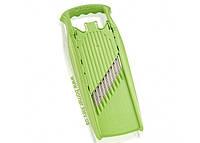 """Овощерезка """"Börner"""" Арт-Декор модель PRIMA зеленая(волнистая,вафельная, спиральная нарезка)"""