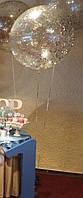 Шар-гигант 70 см прозрачный с наполнением