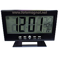 Часы электронные VST 8082 — Настольные часы на батарейках, включение по хлопку