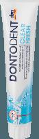 Зубная паста Dontodent Clear Fresh для защиты от кариеса, пародонтоза 125 ml (28 шт/уп)