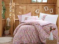 Постельное белье Hobby Poplin Giulia розовый Двуспальный евро комплект
