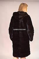 Шуба из меха норки аукцион Коппенгаген, длина 95см, в наличии 46,48 размеры