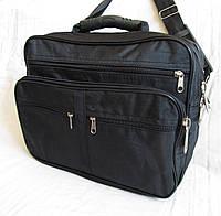 Мужская сумка через плечо Барсетка деловая жатка формат А4 34х26х17см