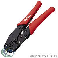 Клещи для обжима контактов с трещоткой 220 мм