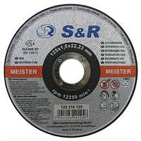 Круг отрезной по нержавеющей стали S&R Meister типа A46R-BF 125х1