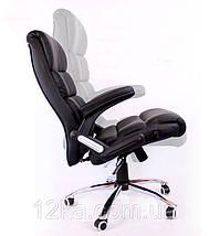 Офисное кожаное кресло Deko раскладное черное, фото 3