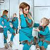 Family Look Парные костюмы с мехом мама+дочка, фото 2