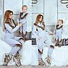 Family Look Парные костюмы с мехом мама+дочка, фото 3