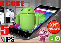 Супер смартфон Goclever Quantum 500 , 8 core, 5'' IPS, 2 sim, 3G, GPS, Android 6 (НОВЫЙ)
