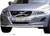 Защита бампера для Volvo XC60 одинарный ус (п.к. V001)