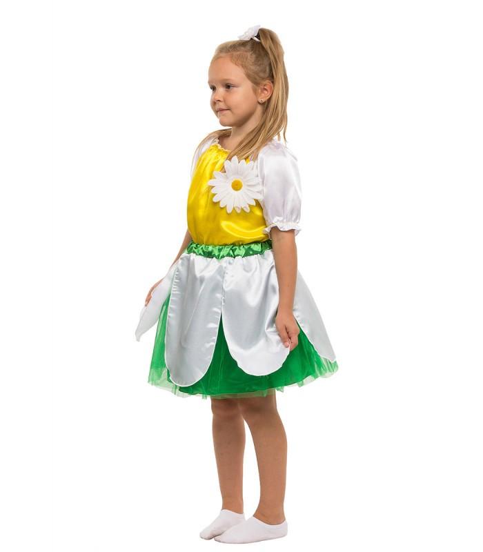Карнавальный костюм Ромашки девочка весенний на праздник Весны (5-10 лет)