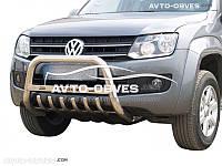 Штатный кенгурятник для Volkswagen Amarok с логотипом