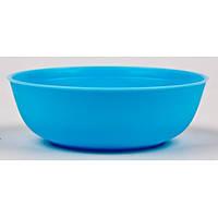 Тарелка детская глубокая (13х13х4,5 см, пластик, Украина, цвета в ассортименте)
