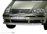 Защита переднего бампера VW Sharan одинарный ус (п.к. V001)