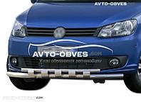 Двойной ус с грилем для VolksWagen Caddy 2010—2015. Эксклюзив