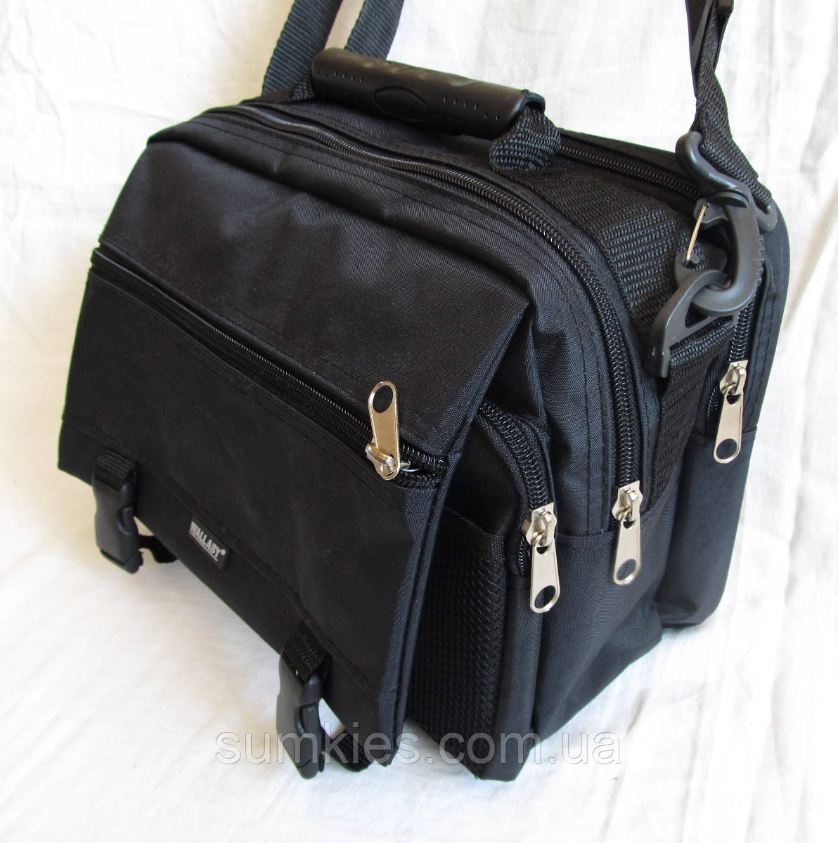 1c83fb9d96aa Мужская сумка Wallaby2425 черная барсетка через плечо 28х21х16см ...
