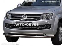 Защитный ус для переднего бампера Volkwagen Amarok 2011 - 2015