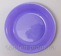 Тарелка пластиковая, цвет в ассортименте