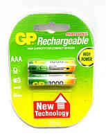 Аккумулятор GP Rechargeable R03 1000 mAh Ni-MH, фото 2 Аккумулятор GP Rechargeable R03 1000 mAh Ni-MH