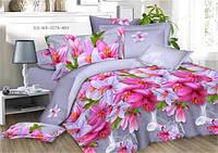 Двуспальный набор постельного белья Ранфорс №254