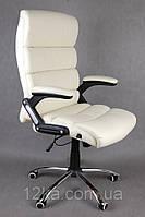 Офисное кожаное кресло Deko раскладное бежевое