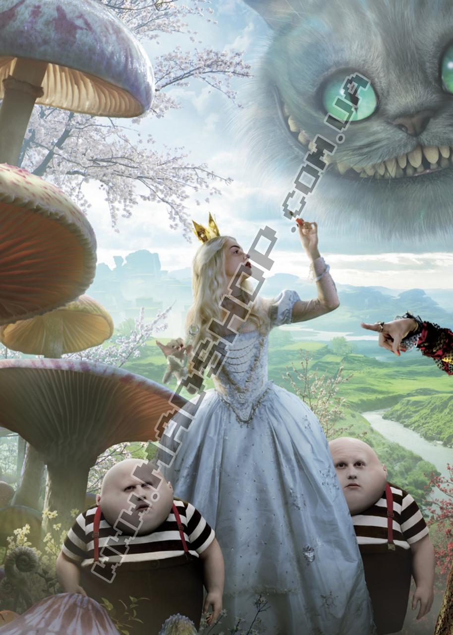 Картина 40х60 см Алиса в Стране чудес Алиса и кот