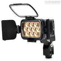 Сверхмощный накамерный свет LED-LBPS1800 со шторками, 5500K (3200K/фильтр) + АБ + З/У.