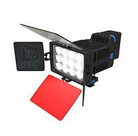 Профессиональный накамерный светодиодный свет LED-1040, 3000K-6000K.