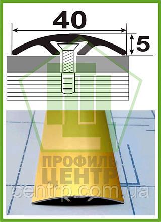 Алюминиевый порог скрытого монтажа АП 013, ширина 40 мм, анодированный. Длина 0,9 м