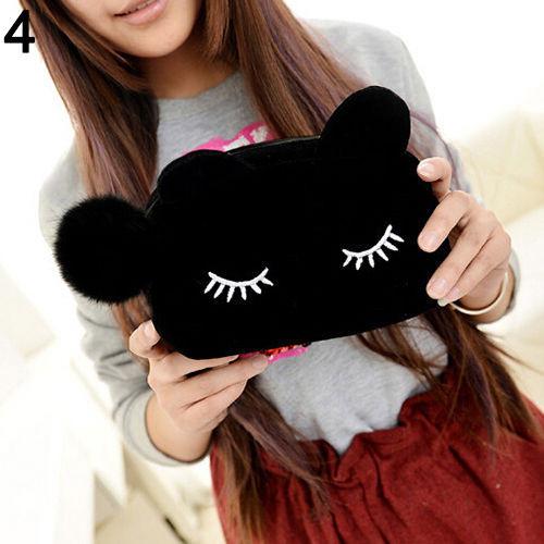 косметичка черная кошка