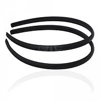 Обруч пластиковый, обтянут черной атласной лентой 0,8 см
