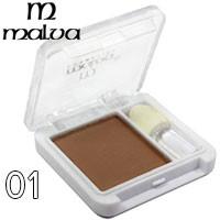 Malva - Тени для век 1-цветные M-374 Тон 01 натурал/беж матовые
