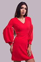 Офисное платье с пышным рукавом