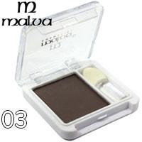Malva - Тени для век 1-цветные M-374 Тон 03 серо-коричневые матовые
