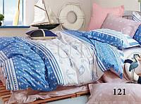 """Полуторное постельное белье в """"морском стиле"""" 121 сатиновое ТМ """"Вилюта"""""""