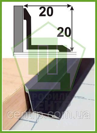 АВ 20*20. Угол внутренний, анодированный, 20мм*20мм. Длина 2,7м.