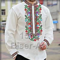 Заготовка для вишивки чоловічої сорочки 1564 на габардині