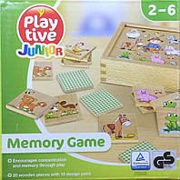 Playtive Junior Детская деревянная игра памяти Дедушкина Ферма 2+лет