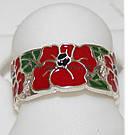 Серьги и кольцо Красный Мак, фото 4