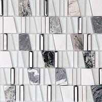 Белая мозаика из натурального мрамора Vivacer DAF20