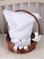 Конверт-плед на выписку, в коляску, кроватку для новорожденного