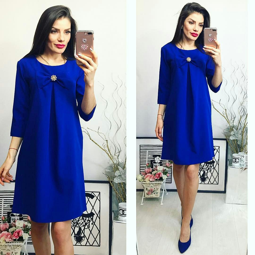 Платье женское, модель 774, электрик