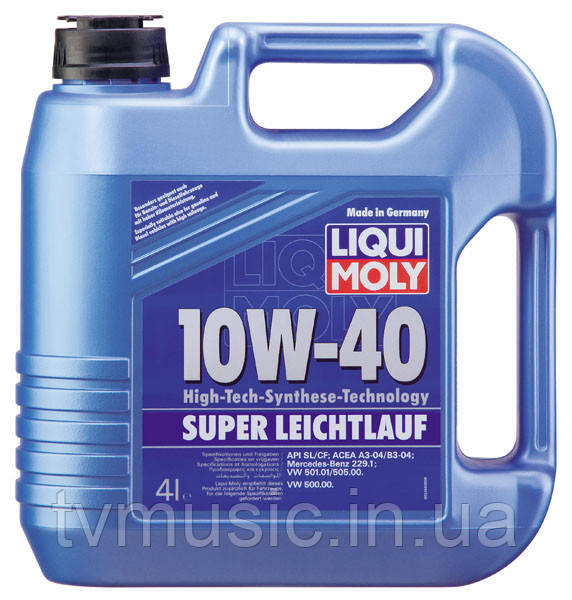 Масло моторное Liqui Moly Super Leichtlauf 10W-40 4 литра