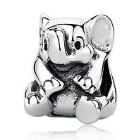 """Шарм бусина №1196 """"Счастливый слон"""" для браслета Пандора PANDORA (Серебро)"""